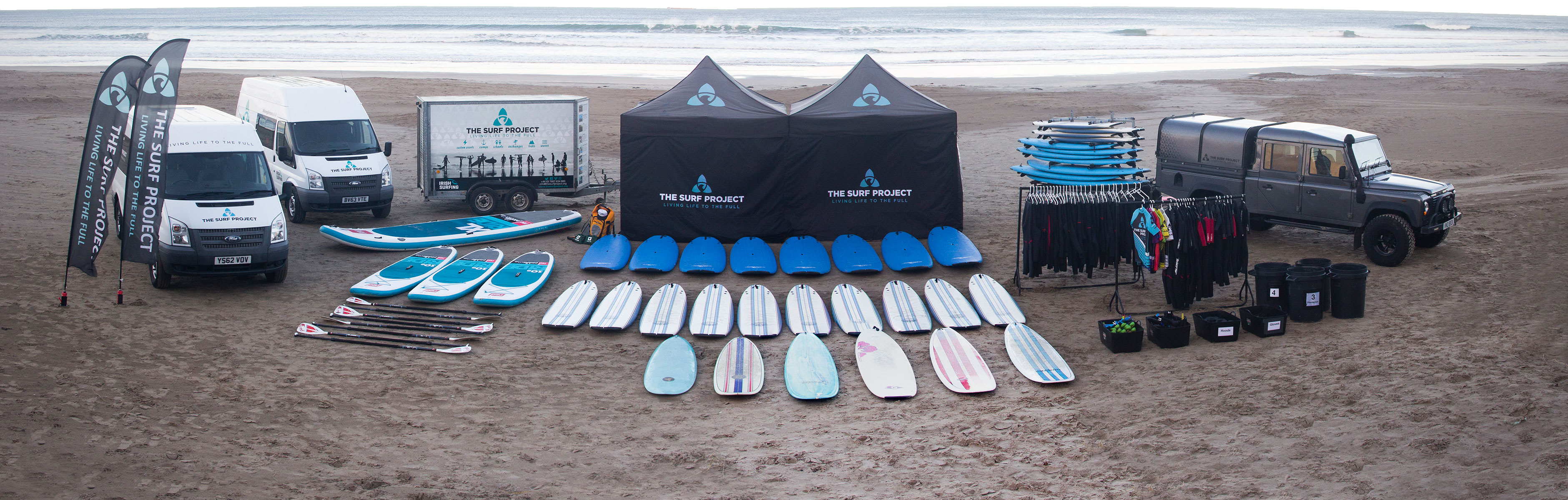 Fully equipped surf school