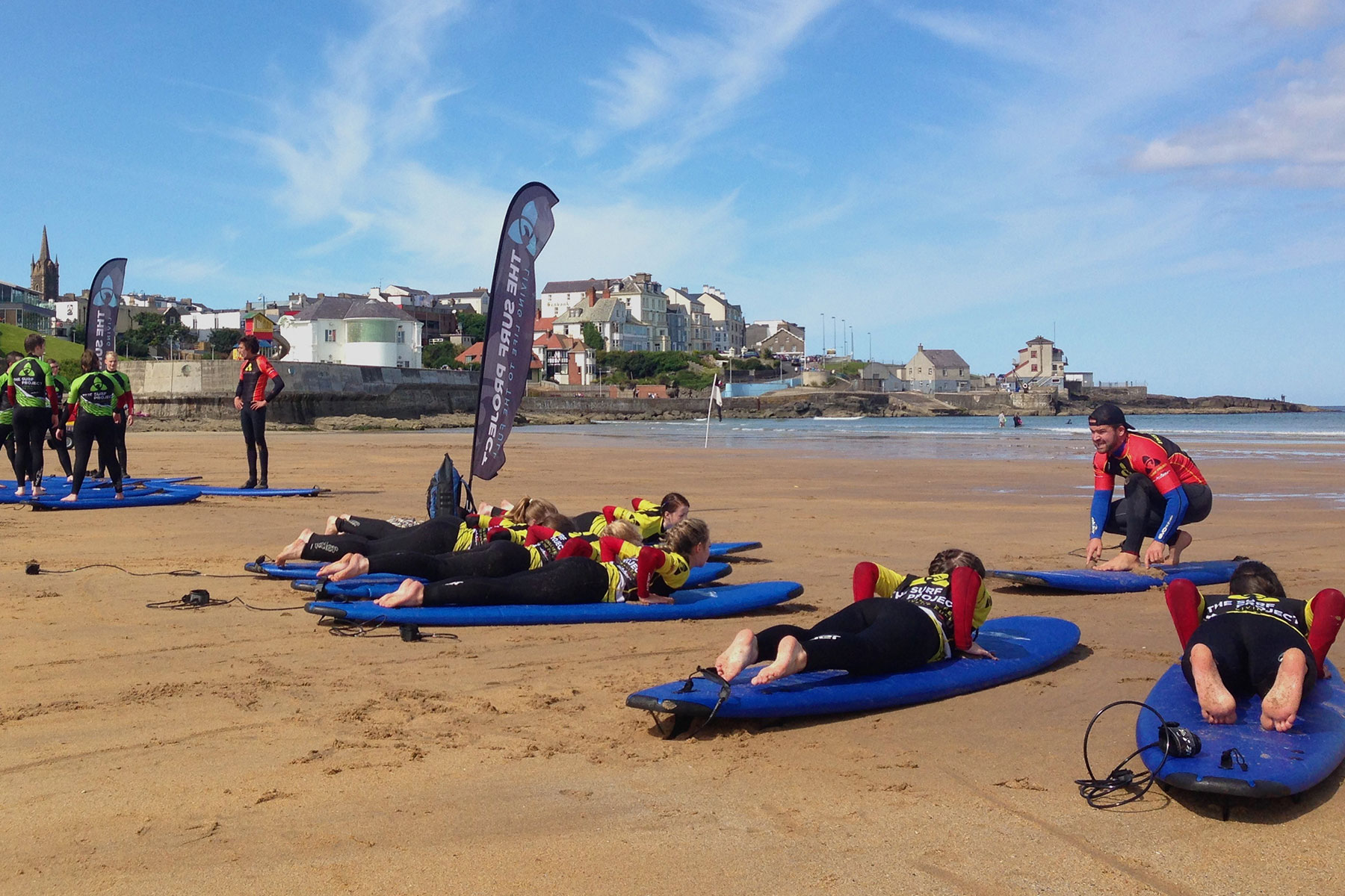 Surf lesson in Portrush with The Surf Project